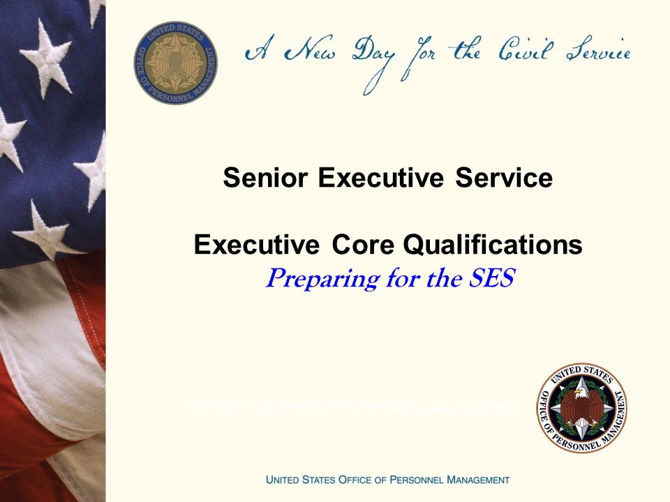 guide to senior executive service qualifications