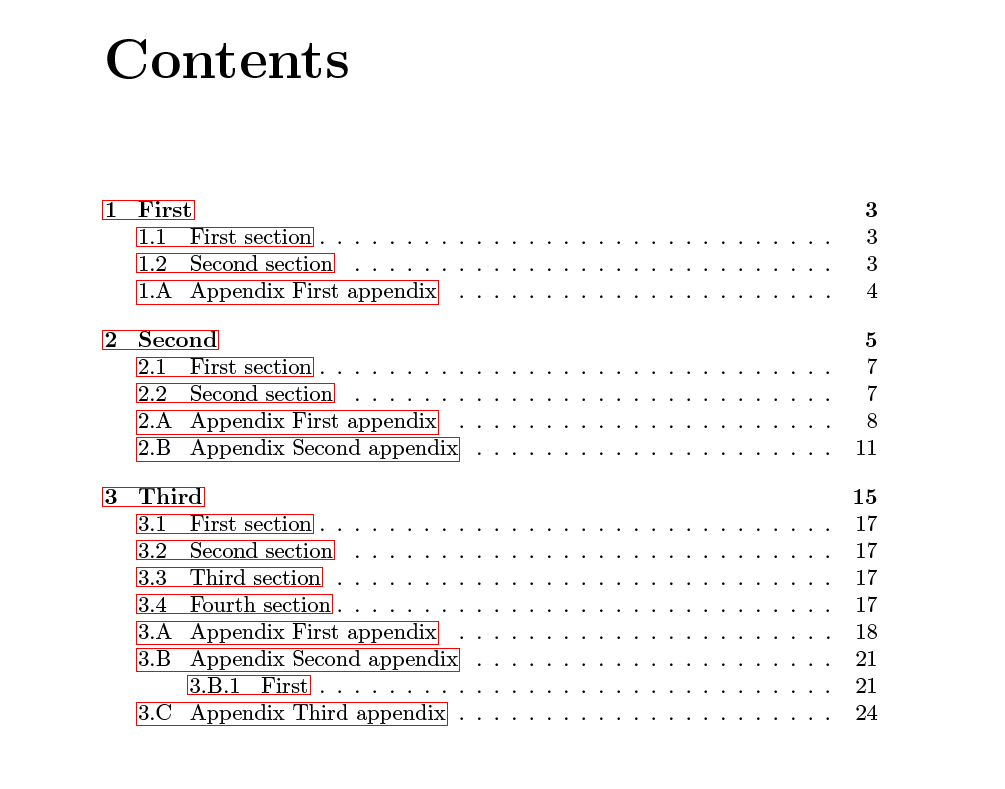 phd thesis table of contents guide