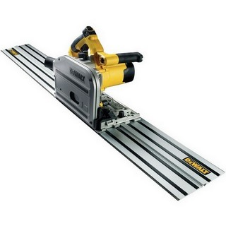 plunge saw with guide rail
