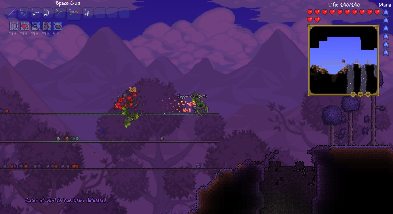 terraria eater of worlds guide